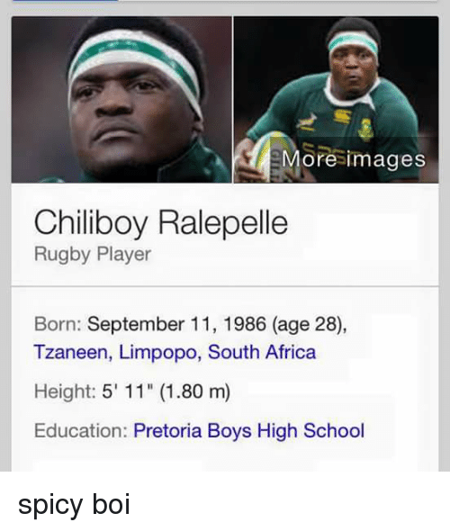 Ore Images Chiliboy Ralepelle Rugby Player Born September 11