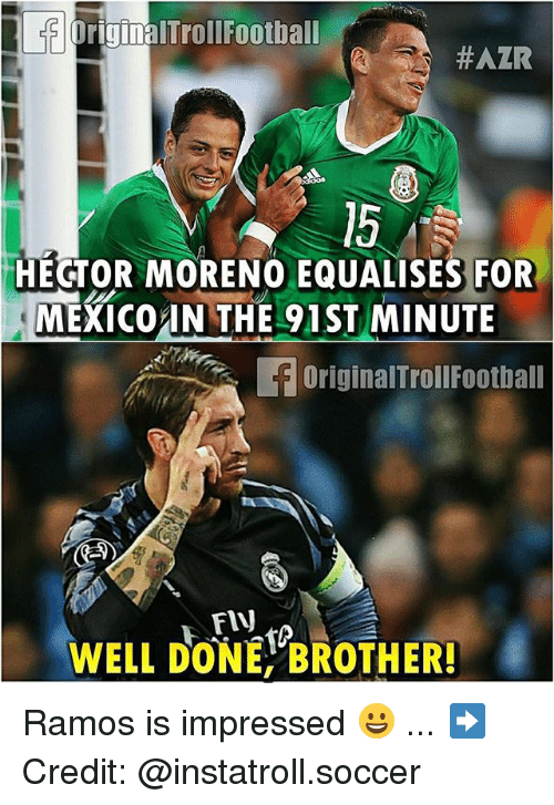 originaltrollfootball 15 hector moreno equalises for mexico in the