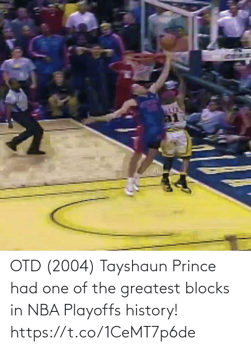 greatest: OTD (2004) Tayshaun Prince had one of the greatest blocks in NBA Playoffs history!   https://t.co/1CeMT7p6de