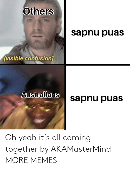 Dank, Memes, and Target: Others  sapnu puas  [visible confusion]  Australians  sapnu puas Oh yeah it's all coming together by AKAMasterMind MORE MEMES