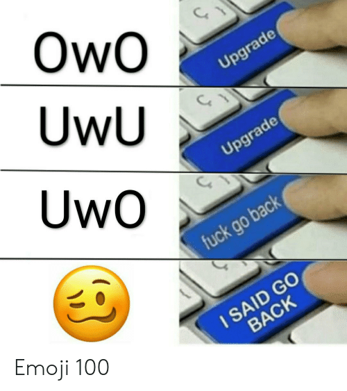 OwO UwU Upgrade UwO Upgrade Fuck Go Back I SAID GO BACK