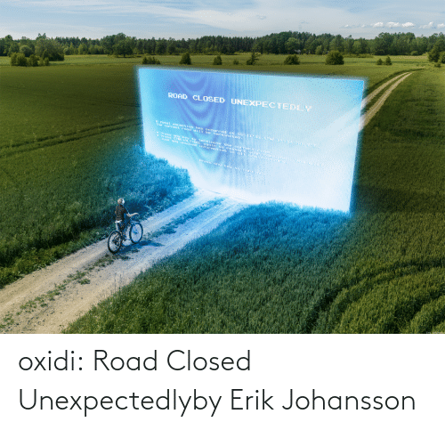 Closed: oxidi:  Road Closed Unexpectedlyby Erik Johansson