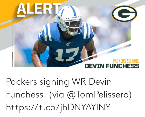 Packers: Packers signing WR Devin Funchess. (via @TomPelissero) https://t.co/jhDNYAYINY