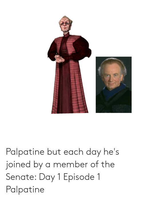 episode 1: Palpatine but each day he's joined by a member of the Senate: Day 1 Episode 1 Palpatine