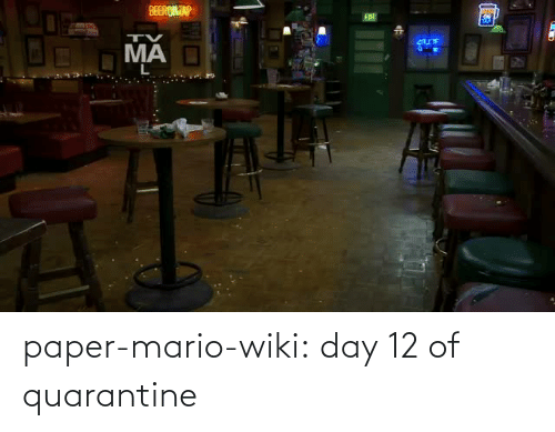 Wiki: paper-mario-wiki: day 12 of quarantine