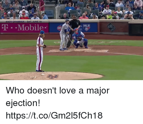 Love, Memes, and T-Mobile: park  T-Mobile  MLE  citi  raft Who doesn't love a major ejection! https://t.co/Gm2l5fCh18