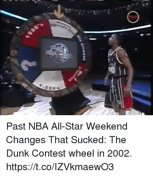 nba all star weekend: Past NBA All-Star Weekend Changes That Sucked: The Dunk Contest wheel in 2002. https://t.co/IZVkmaewO3