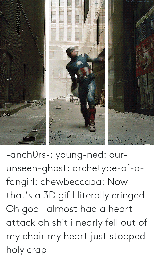 Almost Had A Heart Attack: PastaTheojy.tumblr.com  FOLE -anch0rs-:  young-ned:  our-unseen-ghost:  archetype-of-a-fangirl:  chewbeccaaa:  Now that's a 3D gif  I literally cringed  Oh god I almost had a heart attack  oh shit i nearly fell out of my chair  my heart just stopped holy crap