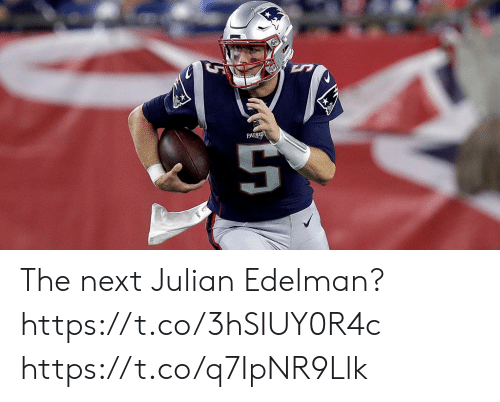 julian: PATRIO The next Julian Edelman? https://t.co/3hSIUY0R4c https://t.co/q7IpNR9Llk