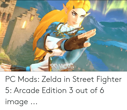 PC MOVS Artlater Mods and Mere PC Mods Zelda in Street Fighter 5