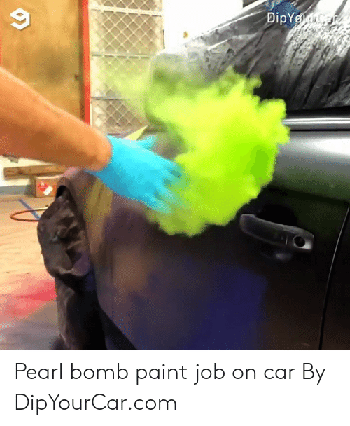 Dank, Paint, and 🤖: Pearl bomb paint job on car  By DipYourCar.com