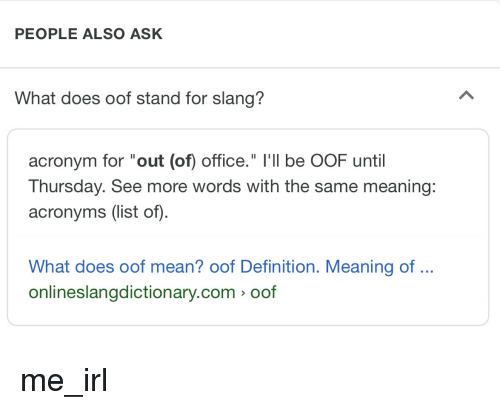 25 Best Memes About Oof Meaning Oof Meaning Memes