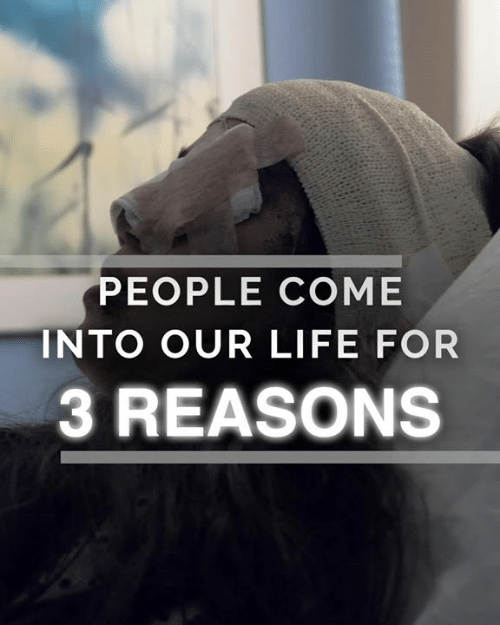 Life, Memes, and 🤖: PEOPLE COME  INTO OUR LIFE FOR  3 REASONS