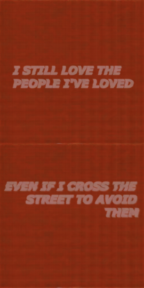 Cross, The Street, and Street: PEOPLE I'VE LOVED   EVEN SFS CROSS THE  STREET TO AVOID  THEN
