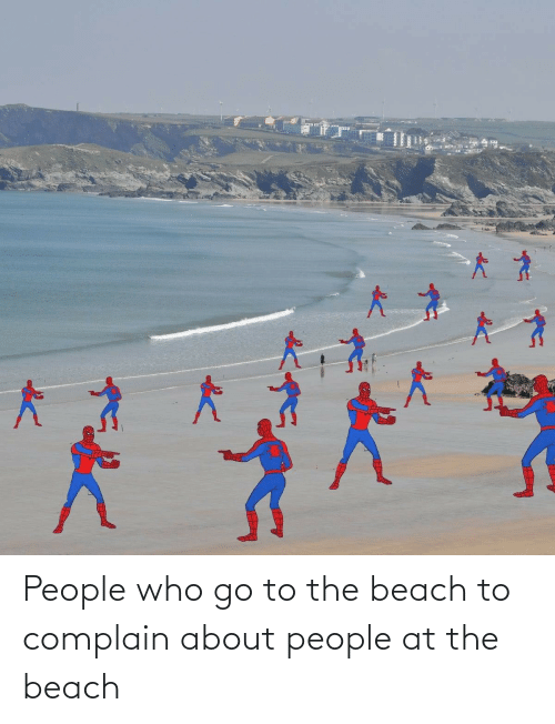 the beach: People who go to the beach to complain about people at the beach