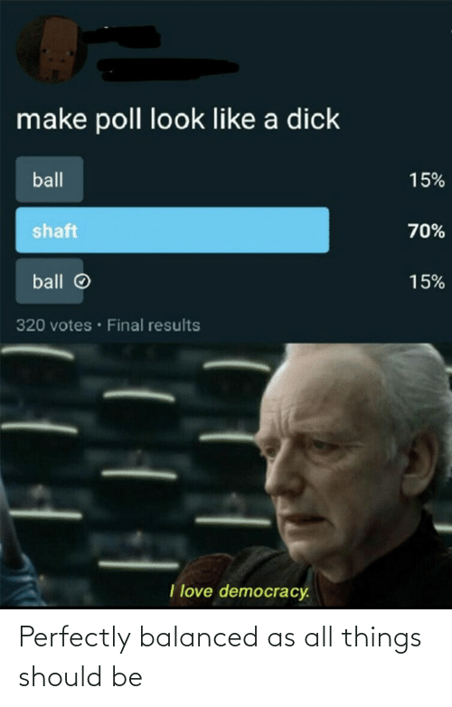 Should Be: Perfectly balanced as all things should be