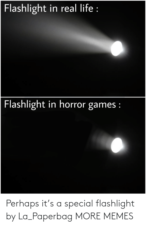Flashlight: Perhaps it's a special flashlight by La_Paperbag MORE MEMES