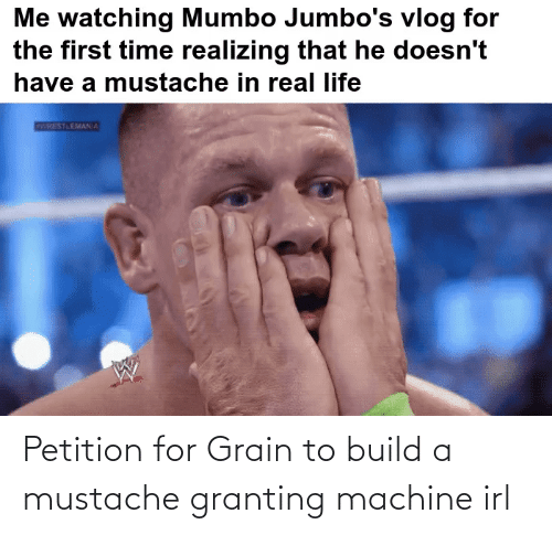build a: Petition for Grain to build a mustache granting machine irl