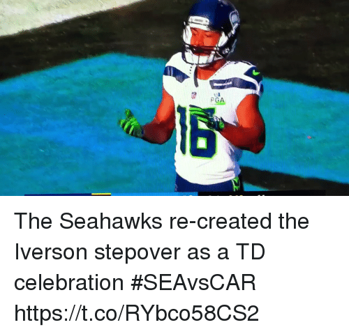 Iverson: PGA The Seahawks re-created the Iverson stepover as a TD celebration #SEAvsCAR https://t.co/RYbco58CS2
