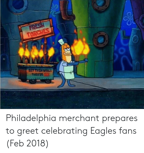 Philadelphia Eagles, Philadelphia, and Celebrating: Philadelphia merchant prepares to greet celebrating Eagles fans (Feb 2018)