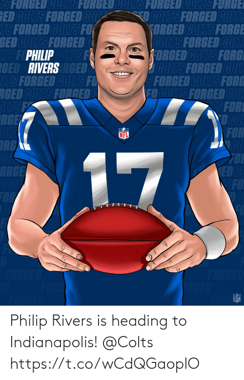 Indianapolis Colts: Philip Rivers is heading to Indianapolis! @Colts https://t.co/wCdQGaoplO