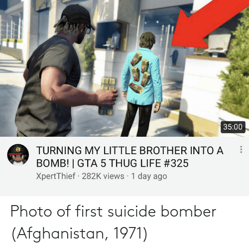 Afghanistan: Photo of first suicide bomber (Afghanistan, 1971)