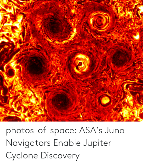 Jupiter: photos-of-space:  ASA's Juno Navigators Enable Jupiter Cyclone Discovery