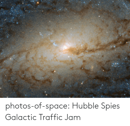 photos: photos-of-space:  Hubble Spies Galactic Traffic Jam