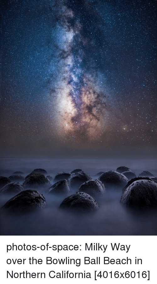 Tumblr, Beach, and Blog: photos-of-space:  Milky Way over the Bowling Ball Beach in Northern California [4016x6016]