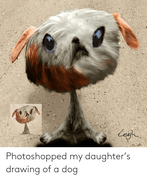 A Dog: Photoshopped my daughter's drawing of a dog