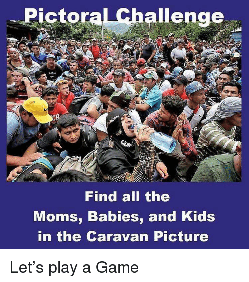The Moms: Pictoral Challenge  Find all the  Moms, Babies, and Kids  in the Caravan Picture Let's play a Game