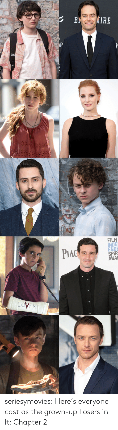 pia: Pind :  FİLM  İNDE  ENDE  SPR  AWA  PIA  LOVER seriesymovies:  Here's everyone cast as the grown-up Losers in It: Chapter 2