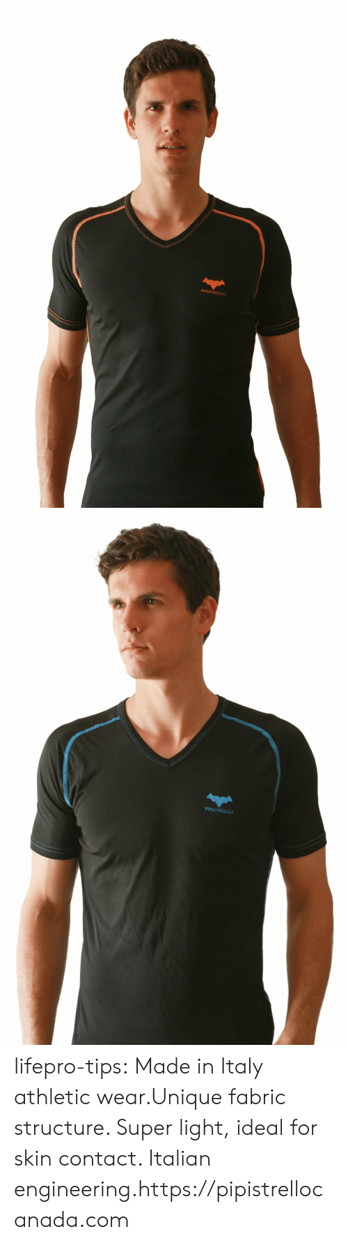 Tumblr, Blog, and Http: PIPISTRELLO   PIPISTRELLO lifepro-tips: Made in Italy athletic wear.Unique fabric structure. Super light, ideal for skin contact. Italian engineering.https://pipistrellocanada.com