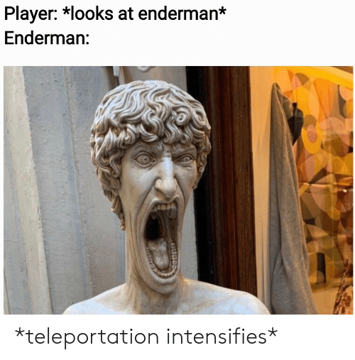 Intensifies, Player, and Teleportation: Player: *looks at enderman*  Enderman: *teleportation intensifies*