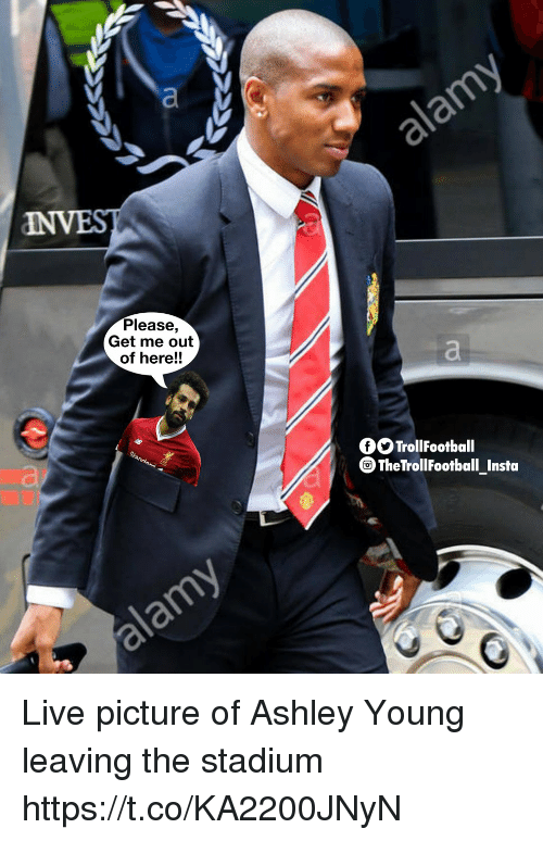 Memes, Live, and Ashley Young: Please,  Get me out  of here!!  fSTrollFootball  The TrollFootball Insta Live picture of Ashley Young leaving the stadium https://t.co/KA2200JNyN