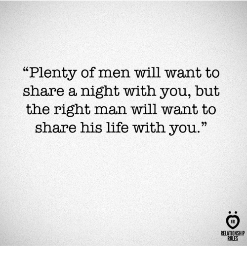 """Nights With You: """"Plenty of men will want to  share a night with you, but  the right man will want to  share his life with you.""""  RELATIONSHIP  RULES"""