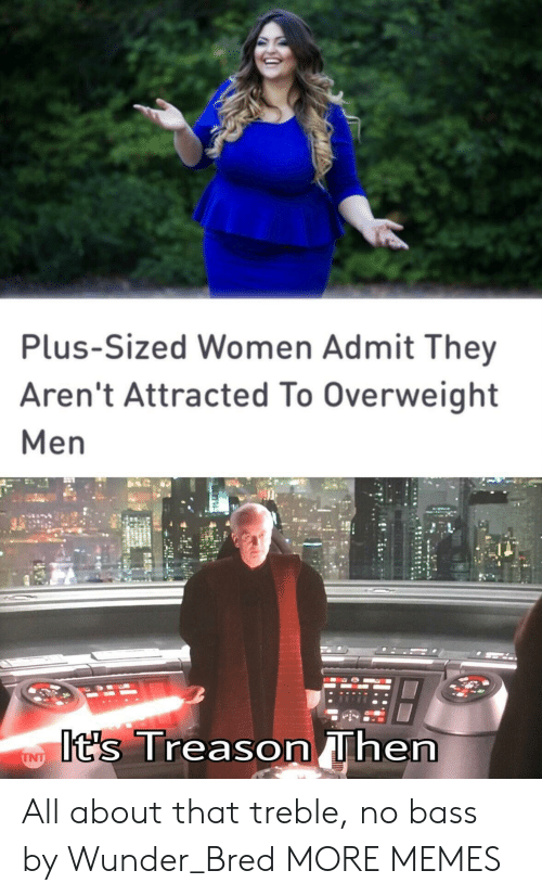 Dank, Memes, and Target: Plus-Sized Women Admit They  Aren't Attracted To Overweight  Men  t's Treason hern All about that treble, no bass by Wunder_Bred MORE MEMES
