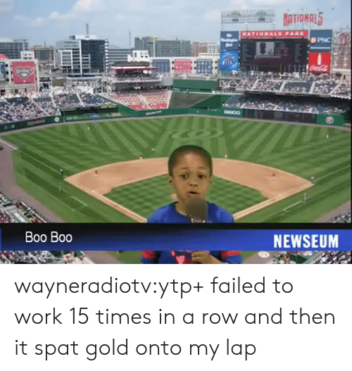 ytp: PNC  DEICO  Boo Boo  NEWSEUM wayneradiotv:ytp+ failed to work 15 times in a row and then it spat gold onto my lap