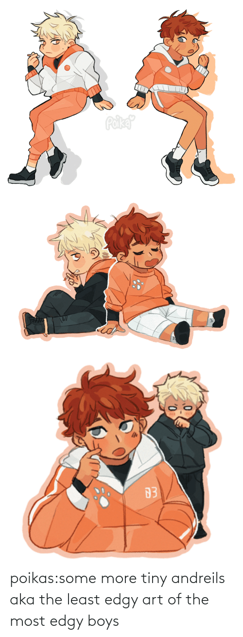 Blank: poikas:some more tiny andreils aka the least edgy art of the most edgy boys