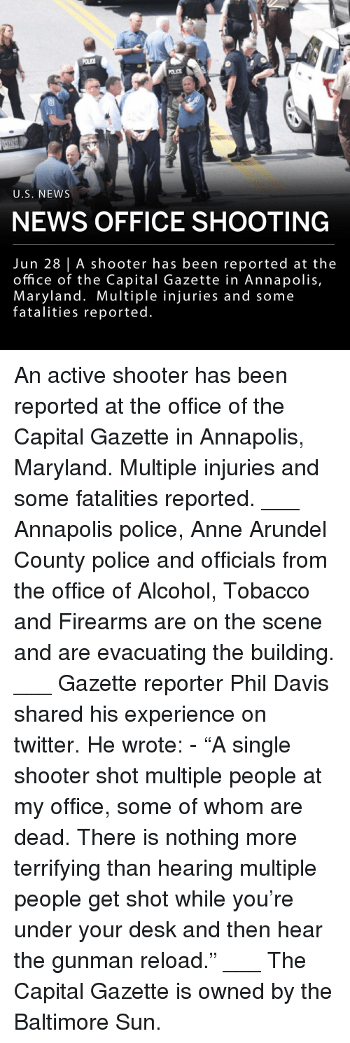 """Memes, News, and Police: POLICE  U.S. NEWS  NEWS OFFICE SHOOTING  Jun 28 