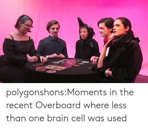 In The: polygonshons:Moments in the recent Overboard where less than one brain cell was used