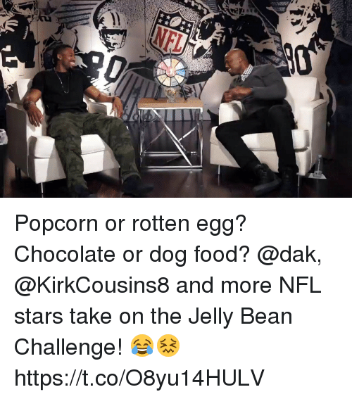 Beaned: Popcorn or rotten egg? Chocolate or dog food?  @dak, @KirkCousins8 and more NFL stars take on the Jelly Bean Challenge! 😂😖 https://t.co/O8yu14HULV