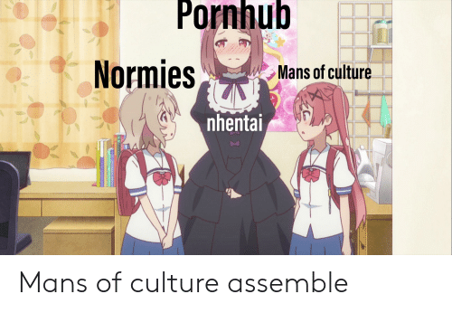 Pornnub Normies Mans Of Culture Nhenta Mans Of Culture Assemble Anime Meme On Awwmemes Com Even if you're not into that, you might want to check. pornnub normies mans of culture nhenta