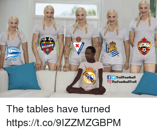 Memes, 🤖, and Tables: PORT  fTrollFootball  TheFootballTroll The tables have turned https://t.co/9IZZMZGBPM