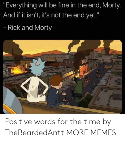 Time: Positive words for the time by TheBeardedAntt MORE MEMES