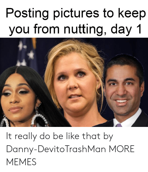 Day 1: Posting pictures to keep  you from nutting, day 1 It really do be like that by Danny-DevitoTrashMan MORE MEMES