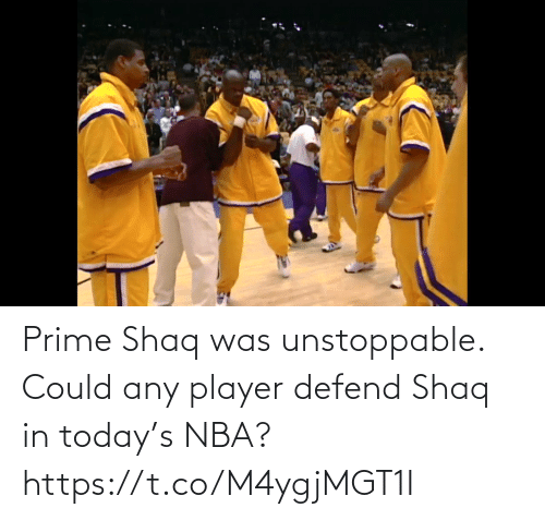prime: Prime Shaq was unstoppable. Could any player defend Shaq in today's NBA?  https://t.co/M4ygjMGT1I