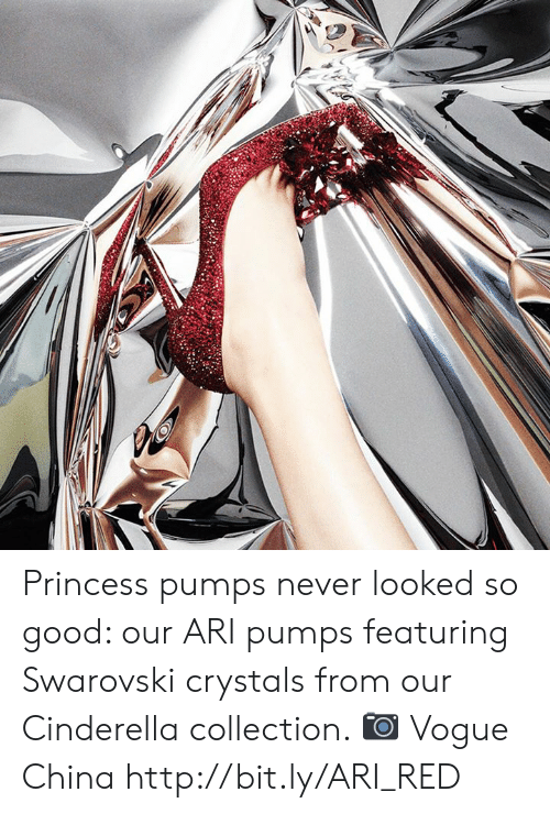 pumps: Princess pumps never looked so good: our ARI pumps featuring Swarovski crystals from our Cinderella collection. 📷 Vogue China http://bit.ly/ARI_RED