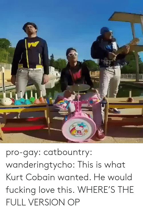 cobain: pro-gay: catbountry:  wanderingtycho: This is what Kurt Cobain wanted.  He would fucking love this.  WHERE'S THE FULL VERSION OP