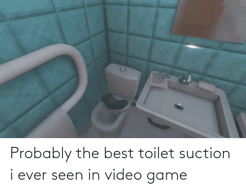 video game: Probably the best toilet suction i ever seen in video game